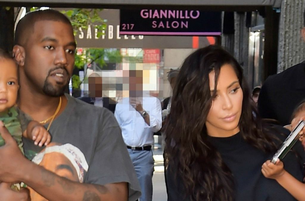 Kanye West, Kim Kardashian, North West, Saint West