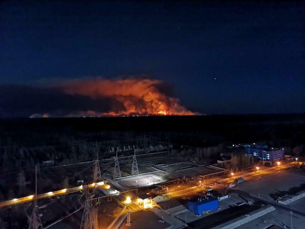 Pożary na Ukrainie