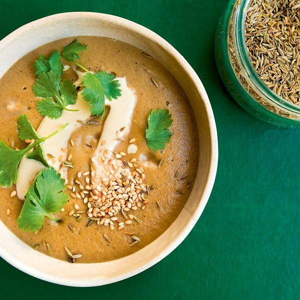 zupa krem z pieczonych bakłażanów