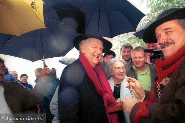 Edmund Hillary podczas wizyty w Polsce w 2004 r.