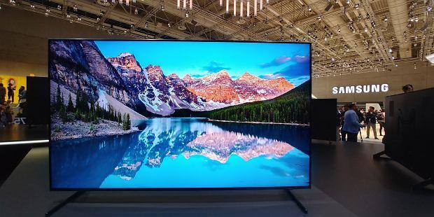 Telewizor Samsung QLED 8K na targach IFA 2018 w Berlinie