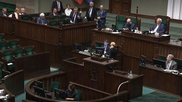 Jarosław Kaczyński do posłów opozycji: 'Hołota chamska'.