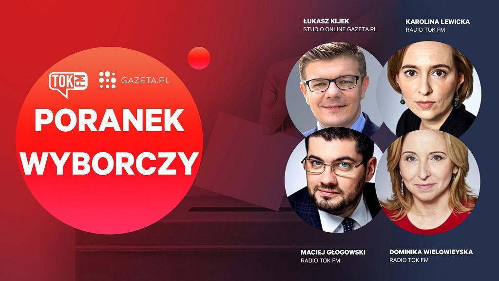 Poranek wyborczy Radia TOK FM i Gazeta.pl