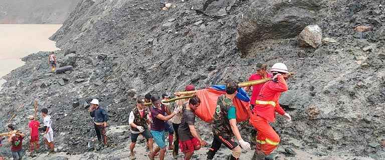 Tragedia w Mjanmie. Osuwisko w kopalni jadeitu zabiło co najmniej 160 osób
