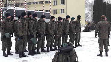 Żołnierze WOT z Lubelszczyzny przed wyjazdem na poligon