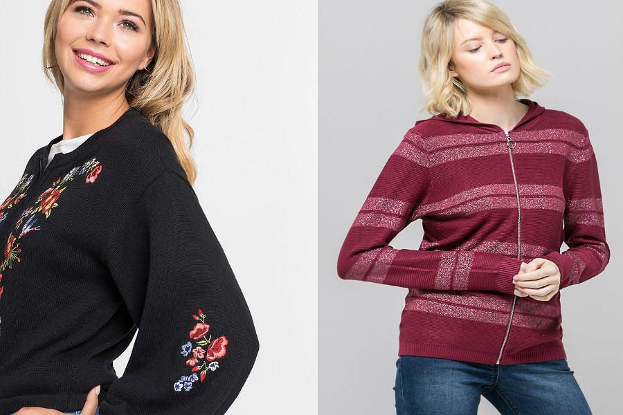 Sweter rozpinany na zamek damski