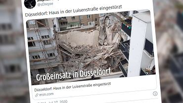Niemcy. Katastrofa budowlana w Düsseldorfie. Polak ginął pod gruzami