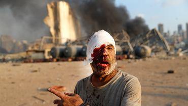 Mężczyzna ranny podczas wybuchu w Bejrucie