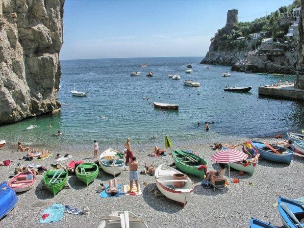 Positano niedaleko Neapolu, Włochy