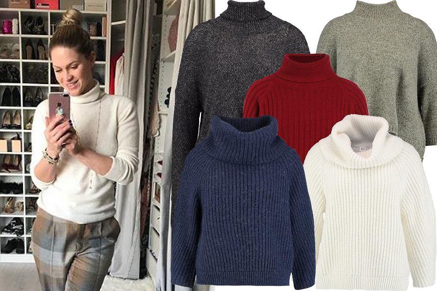 Kolaż, krótki sweter z golfem/Materiały partnera