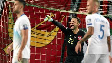 Lukasz Fabiański w meczu Słowenia - Polska