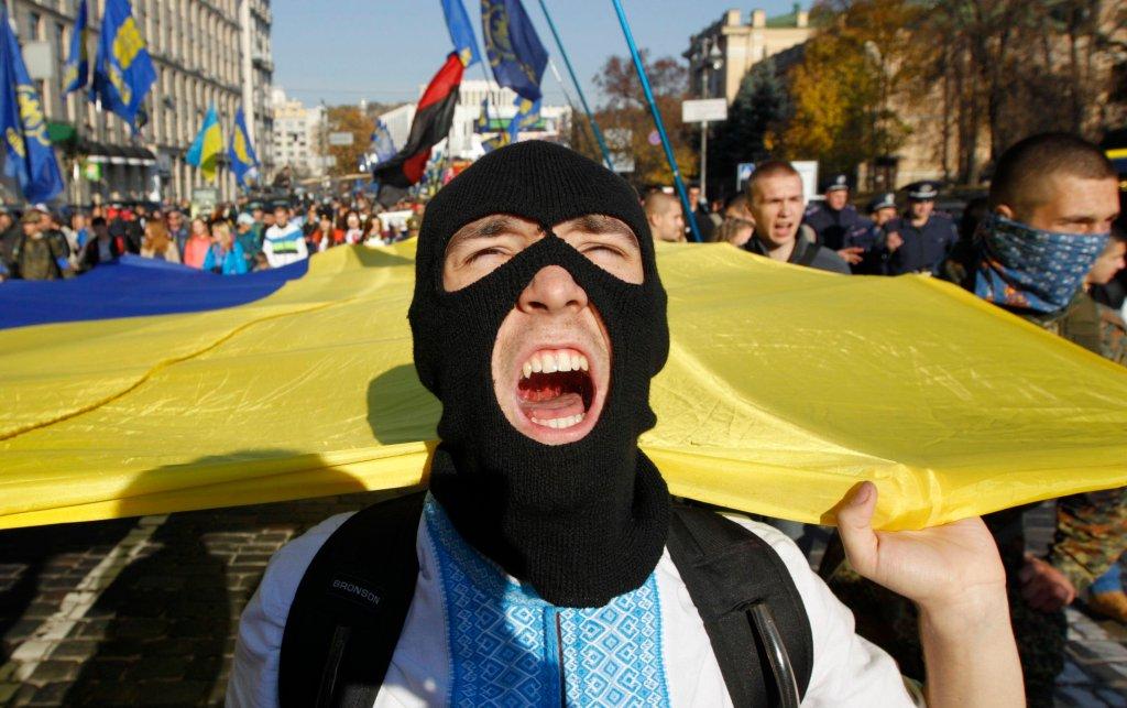 Uczestnicy marszu UPA wywołali zamieszki pod ukriańskim parlamentem
