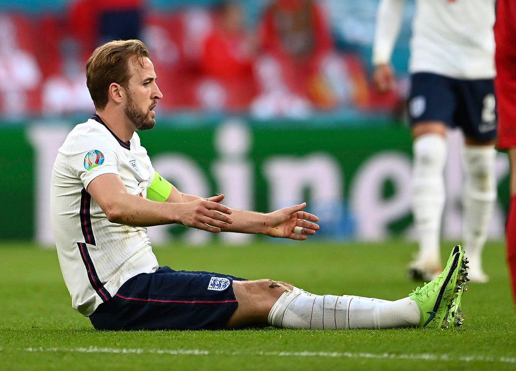 Harry Kane w meczu Anglia - Dania na Euro 2020