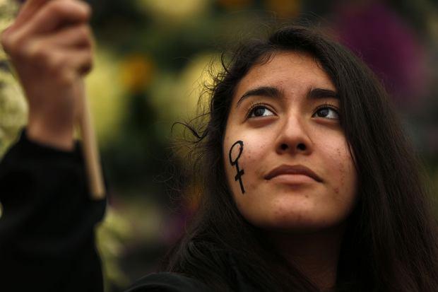 Strajk kobiet w Hiszpanii, Madryt, 8 marca 2018 r.