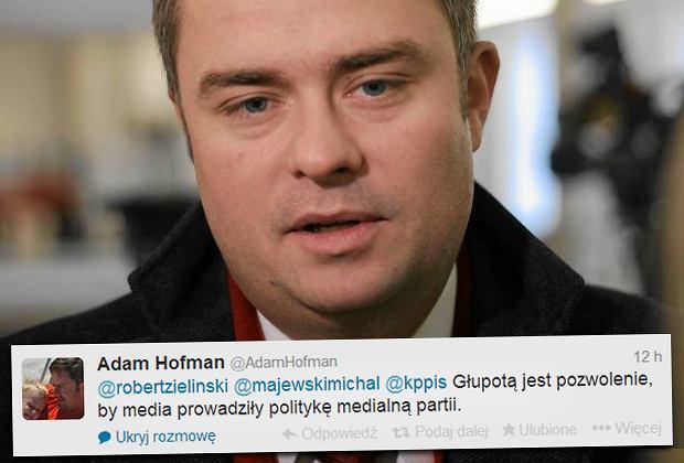 Poseł i rzecznik PiS Adam Hofman