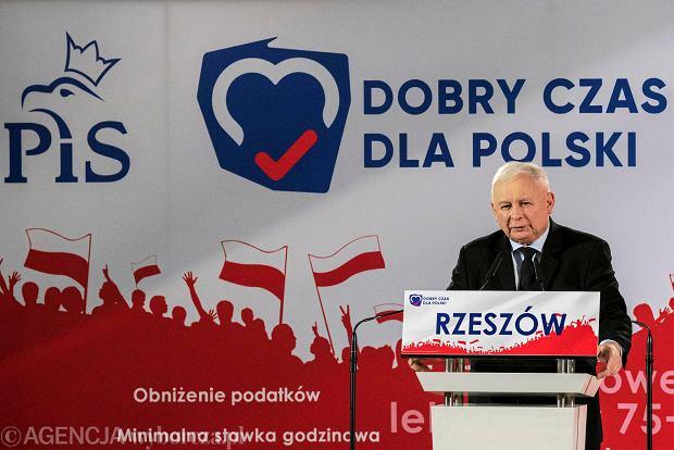 Wybory parlamentarne 2019. Prezes PiS Jarosław Kaczyński w Rzeszowie