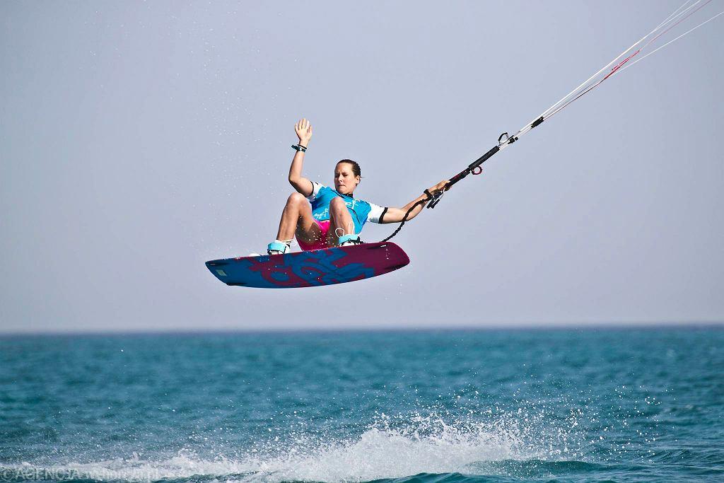 Karolina Winkowska podczas zawodów Pucharu Świata w kitesurfingu w Egipcie