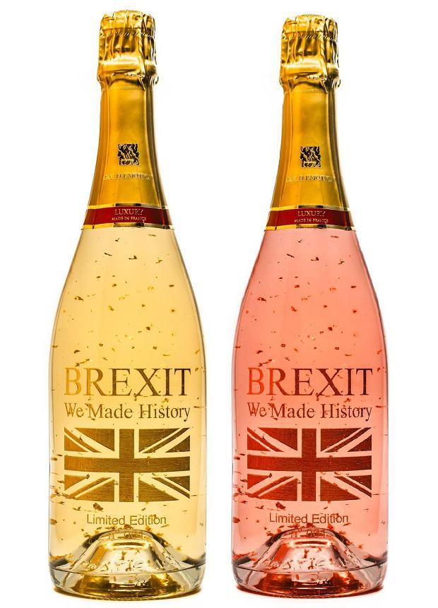 Francuskie wino brexitowe w wersji brut i różowym