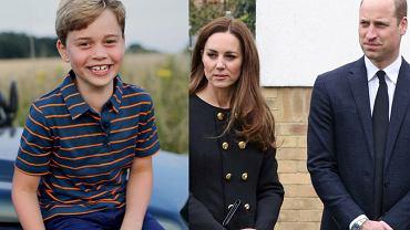 książę George, księżna Kate, książę William