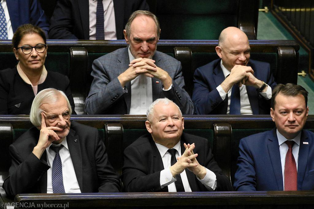 12.12.2018, premier Mateusz Morawiecki przemawia w Sejmie.