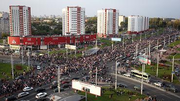 Niedzielny protest w Mińsku, 4 października 2020 r.