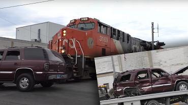 Kraksa na rogatkach kolejowych