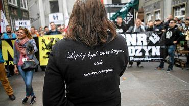 Anna Kołakowska w trakcie Trójmiejskiego Marszu Równości