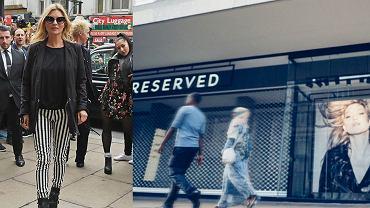 Kate Moss na otwarciu sklepu Reserved w Londynie