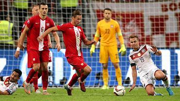 Wrześniowy mecz z Niemcami we Frankfurcie. Choć Polacy doznali spodziewanej porażki, zagrali nawet lepiej niż w zwycięskim meczu na Narodowym