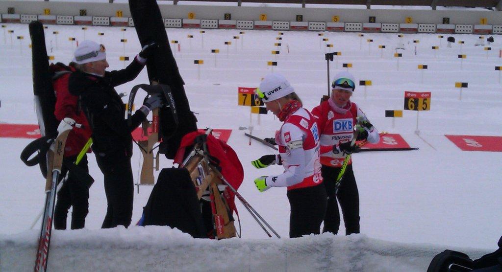 Strzelecki trening biathlonistek w Hochfilzen