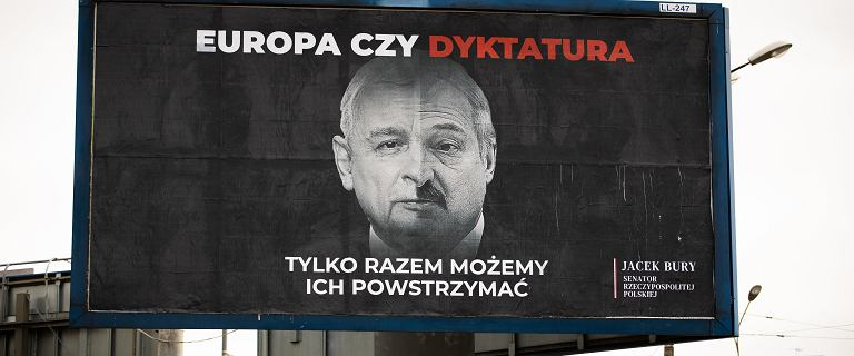 Senator obkleił Lublin billboardami z Kaczyńskim i Łukaszenką