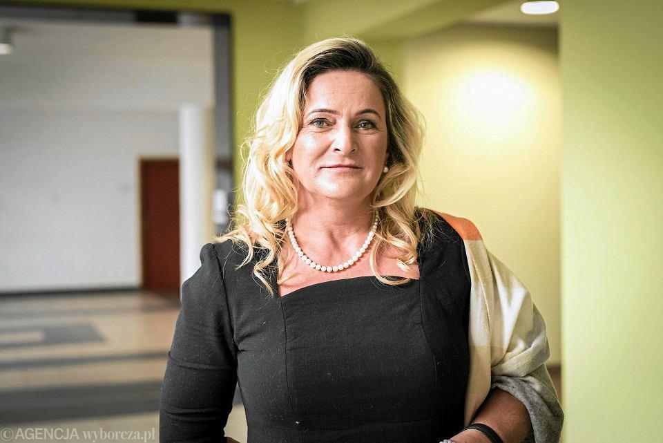 Katarzyna Czochara, posłanka PiS. 20 listopada 2016 r., Uniwersytet Opolski, wybory władz regionalnych PiS.