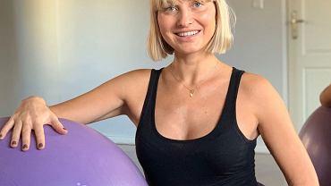 Joanna Moro - trening w ciąży