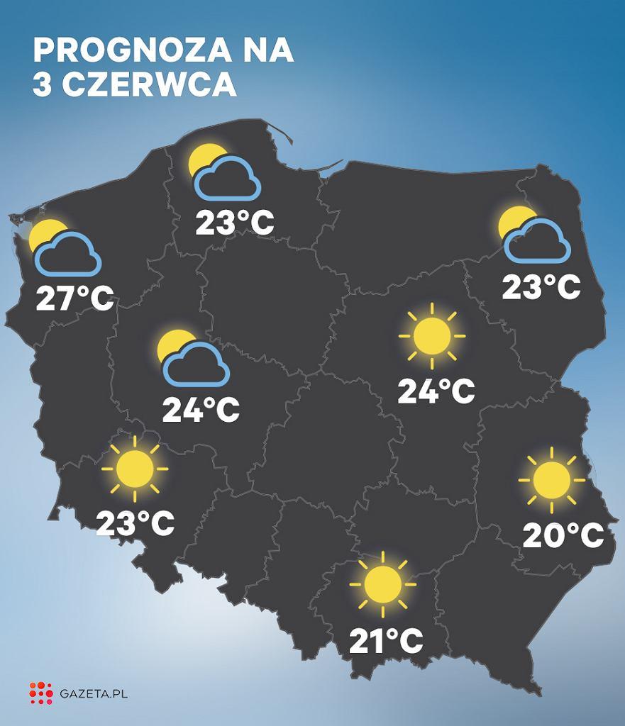 Prognoza pogody na 3 czerwca