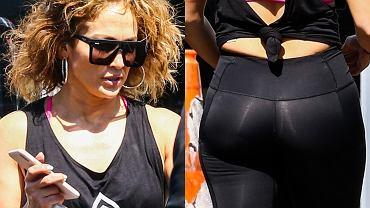 Jennifer Lopez po treningu na siłowni