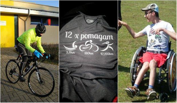 Radek Kokosza (36 l.) z Warszawy - pomysłodawca akcji '12 razy pomagam' - triathlonista-amator, który co miesiąc przez cały rok będzie robił Ironmana. Cel? Pomóc 16-letniemu Piotrkowi zdobyć fundusze na nowy wózek inwalidzki.