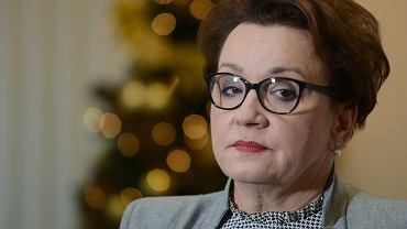 Spotkanie minister Zalewskiej ze zwiazkami ws wynagrodzen nauczycieli
