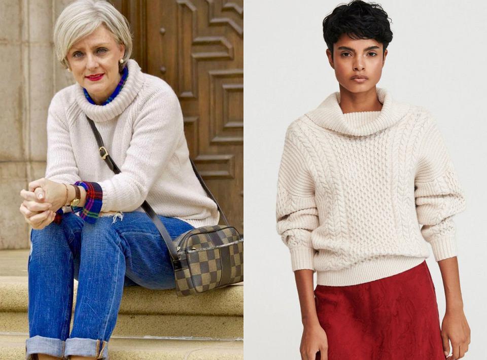 Swetry z golfem dla dojrzałych kobiet