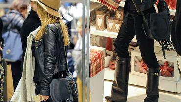 Stylowy beżowy kapelusz, seksowne kozaki i modna torebka. Takiej stylizacji nie powstydziłaby się niejedna trandsetterka. To nie Doda, ani Szulim. Poznajecie, kto się tak ubrał?