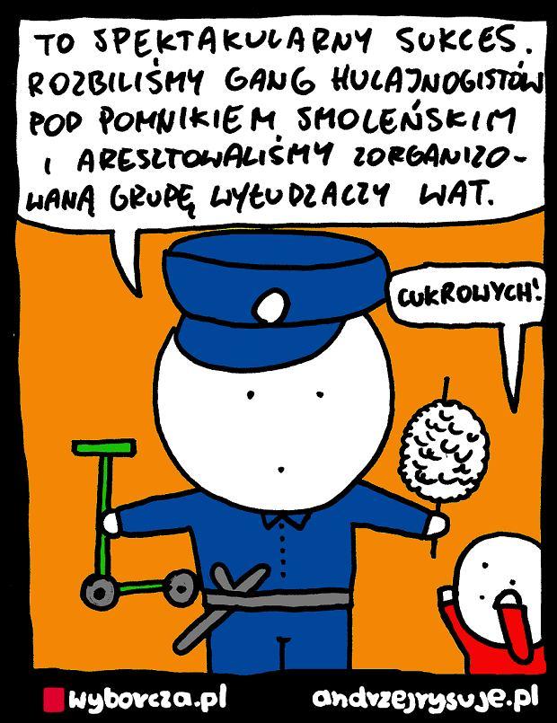 Andrzej Rysuje | POLICJA - Andrzej Rysuje, 25.03.2019 -