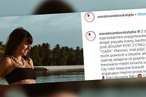 Anna Lewandowska pozuje w bikini. Porusza problem ważny dla przyszłych mam
