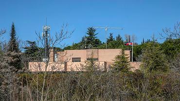 Budynek ambasady Korei Północnej w Madrycie.