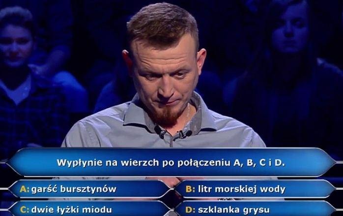 Uczestnik 'Milionerów' odpadł już na drugim pytaniu