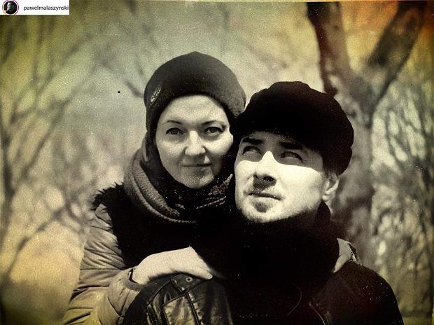 Paweł Małaszyński z żoną Joanną