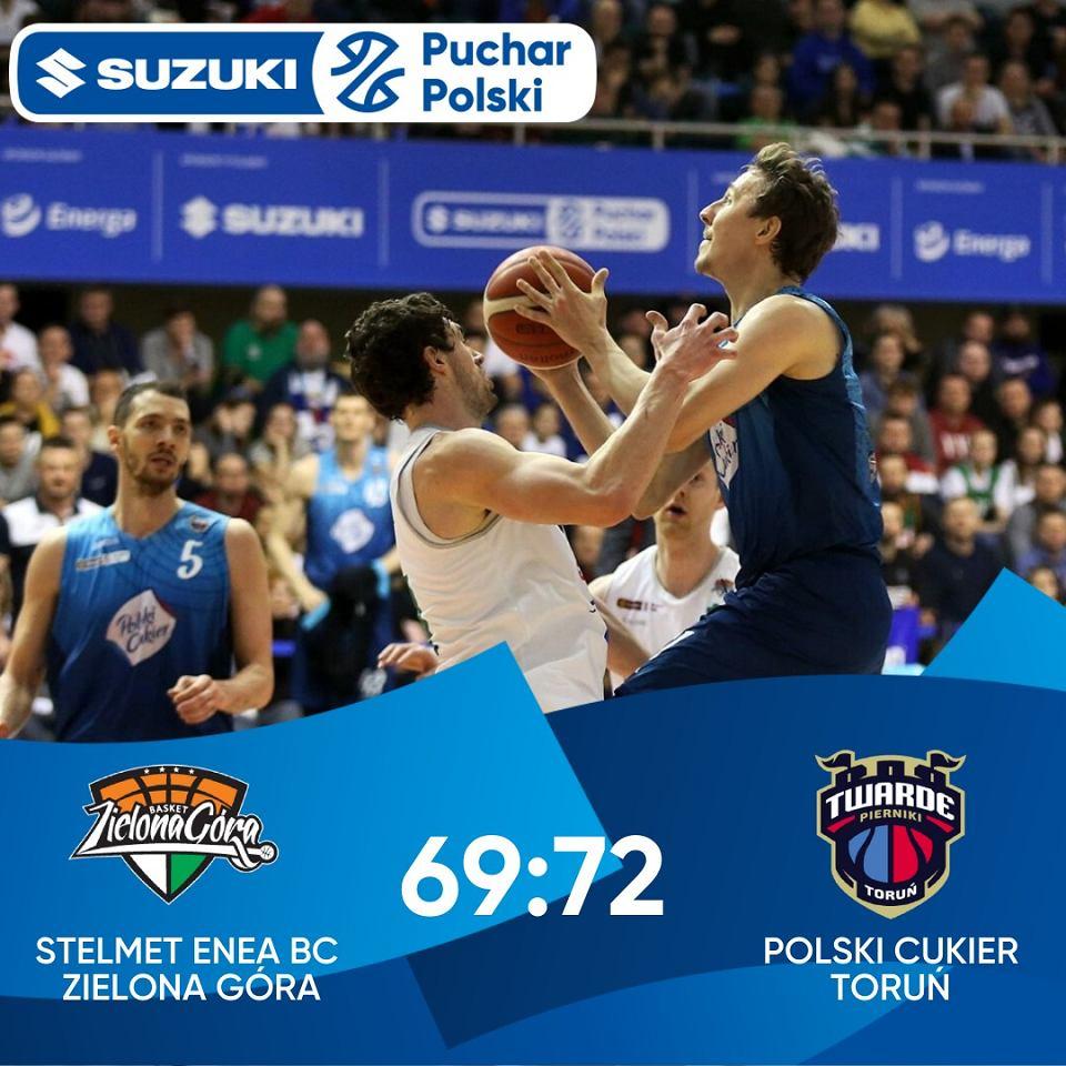 Stelmet Enea BC Zielona Góra w półfinale Pucharu Polski 2020 uległ drużynie Polskiego Cukru Toruń