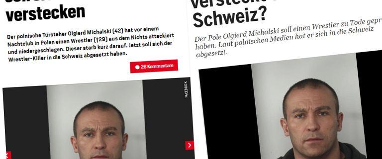 """Szwajcarskie media o poszukiwaniach Michalskiego. """"Zabójca z Polski"""""""
