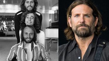 Bee Gees - Barry Gibb na samej górze. Z prawej - Bradley Cooper