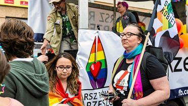 Marta Lempart podczas I Marszu Równości w Rzeszowie