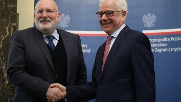 Jacek Czaputowicz i Franz Timmermans