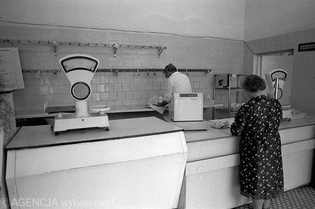 19.06.1989. Sklep mięsny w Warszawie
